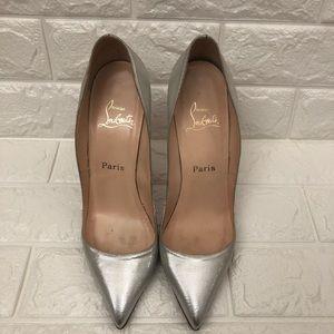 Christian Louboutin Shoes - CHRISTIAN LOUBOUTIN Silver Lamé Pumps